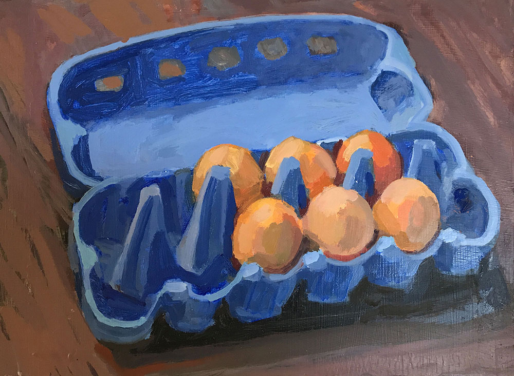 Blue Egg Carton  – 2017