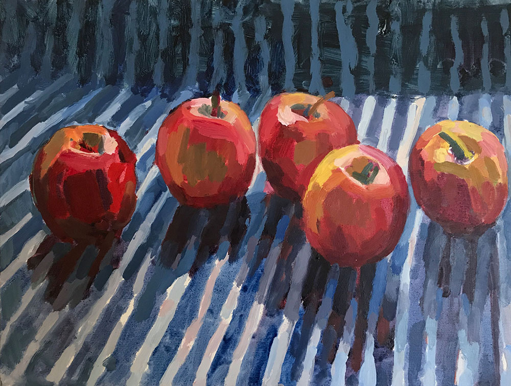 Red Apples – Blue Stripes